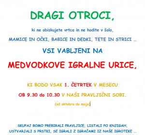 Medvodkove Igralne Urice 300x279