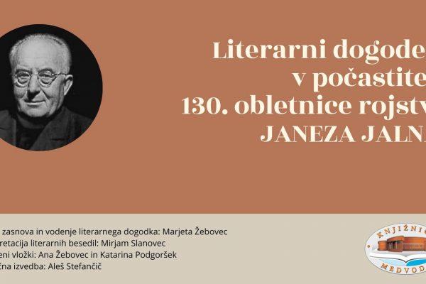 Literarni dogodek v počastitev 130. obletnice rojstva Janeza Jalna